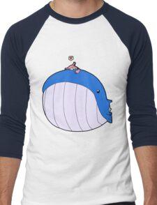HSOWA- Skitty Loves Wailord Men's Baseball ¾ T-Shirt