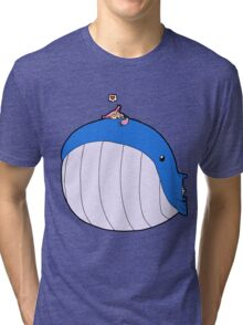 HSOWA- Skitty Loves Wailord Tri-blend T-Shirt