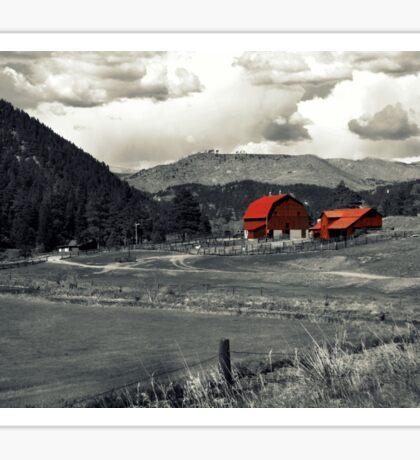 Red Farm House  Sticker
