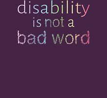 Disability is Not a Bad Word - Pastel Rainbow Womens Fitted T-Shirt