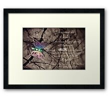 My Beautiful Sister - Christmas Card from Heaven Framed Print