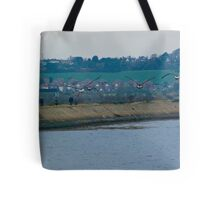 Brent geese approaching Tote Bag