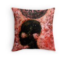 Who Cares (Collagraph Print) Throw Pillow