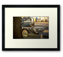 The end of a hard day's work, Beachport Framed Print