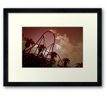 Superman Escape Roller Coaster II Framed Print