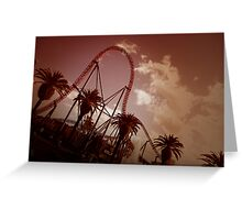Superman Escape Roller Coaster II Greeting Card
