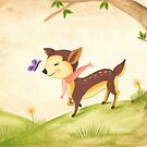 frolicking fawn by emmz