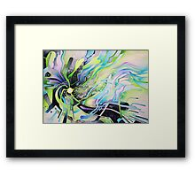 Axion of Evil - Watercolor Painting Framed Print