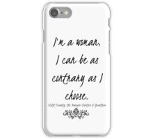 I'm a woman iPhone Case/Skin