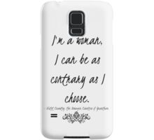 I'm a woman Samsung Galaxy Case/Skin