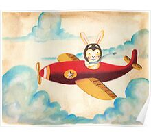flying through the clouds Poster