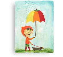 rain drops keep falling on my head Canvas Print
