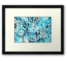 Water Crystals - Abstract Geometric Watercolor Painting Framed Print