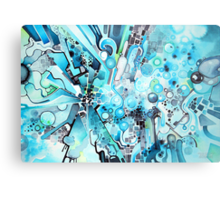 Water Crystals - Abstract Geometric Watercolor Painting Metal Print