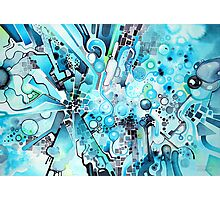 Water Crystals - Abstract Geometric Watercolor Painting Photographic Print