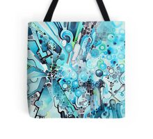Water Crystals - Abstract Geometric Watercolor Painting Tote Bag