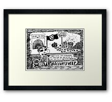 Occupy Sweep editorial cartoon Framed Print