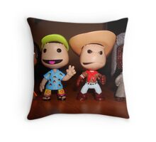 little big planet figures/characters. Throw Pillow