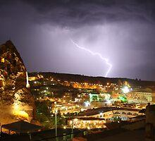 Lightning over Goreme by Christine Oakley