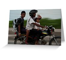 Smiles on the Moped Greeting Card