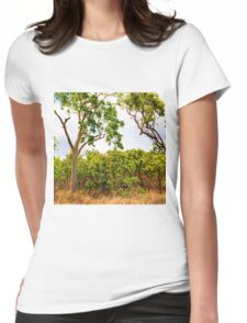 Eucalyptus Trees and Dry Grass Womens Fitted T-Shirt