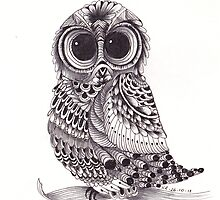 ZenTangle Owl by Kerryn Rowe