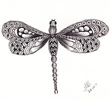 ZenTangle Dragonfly  by Kerryn Rowe