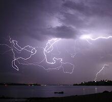 Lake Macquarie Lightning by ImageBud