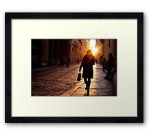Pedestrians in Vicenza Framed Print