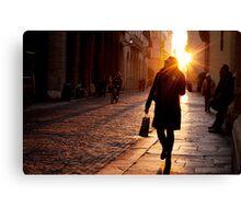 Pedestrians in Vicenza Canvas Print
