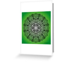 Mandala Drawing 30 GREEN Prints, Cards & Posters Greeting Card