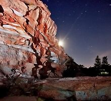 Caves Beach Cliff by ImageBud