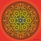 Mandala Drawing 26 ORANGE Prints, Cards & Posters by mandala-jim