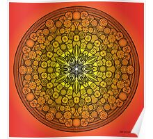 Mandala Drawing 26 ORANGE Prints, Cards & Posters Poster