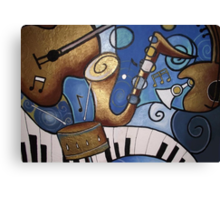 Musical Mural Canvas Print