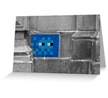 Space Invader 5 Greeting Card