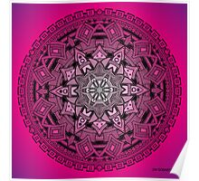 Mandala Drawing 25 PINK Prints, Cards & Posters Poster