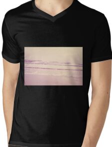 water ripples digitally manipulated beach close up  Mens V-Neck T-Shirt
