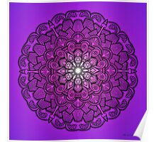 Mandala Drawing 21 PURPLE Prints, Cards & Posters Poster