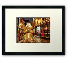 Rainy December - Leadenhall Market Series - London - HDR Framed Print