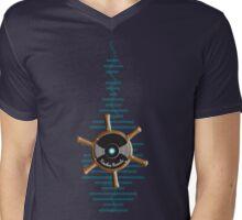 Kinship Records Waveform Wheel Mens V-Neck T-Shirt