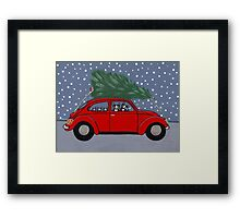 Bringing Home the Tree Framed Print