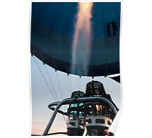 Hot air balloon gas burner and flame  Poster