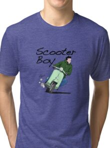 Scooter Boy Old Skool riding Tri-blend T-Shirt