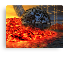 Fire and Steel - A Fantasy Canvas Print