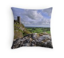 Brentor Church, Dartmoor National Park - Devon Throw Pillow