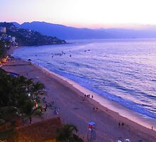 After sunset - Bahía de Banderas in Blue - Azul by PtoVallartaMex