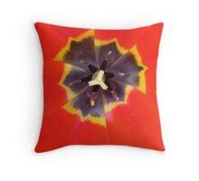 Poppy Tulip Throw Pillow