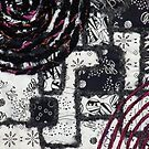 Black &amp; White with a Splash  - detail by Pamela Gregan