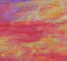 Wait Upon the Lord  (Sunset in Nicaragua)  Detail II by Pamela Gregan